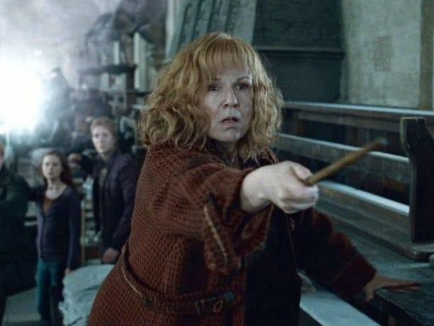 Molly Weasley in Harry Potter and the Deathly Hallows