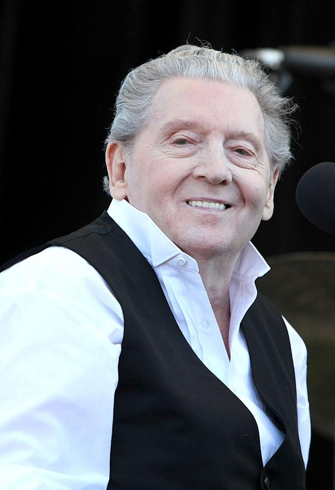 Jerry Lee Lewis performs at Third Man Records on April 17, 2011 in Nashville, Tennessee. (Photo by Tony R. Phipps/WireImage)