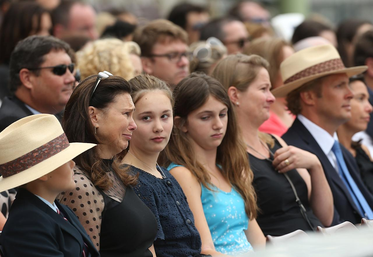SYDNEY, AUSTRALIA - JANUARY 20:  The Grieg family attend the Tony Greig memorial service at Sydney Cricket Ground on January 20, 2013 in Sydney, Australia.  (Photo by Mark Metcalfe/Getty Images)