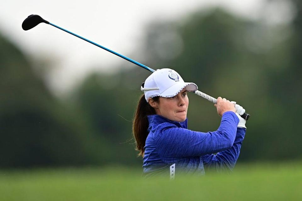Leona Maguire partnered Mel Reid to victory on the opening day of the Solheim Cup in Toledo (David Dermer/AP) (AP)