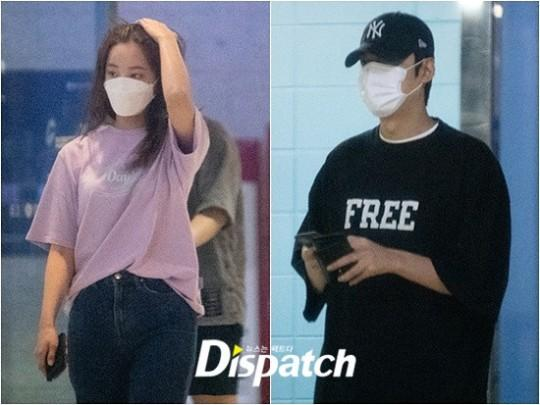 Lee Min Ho and Yeonwoo supposedly going on a date (Photos: Dispatch)