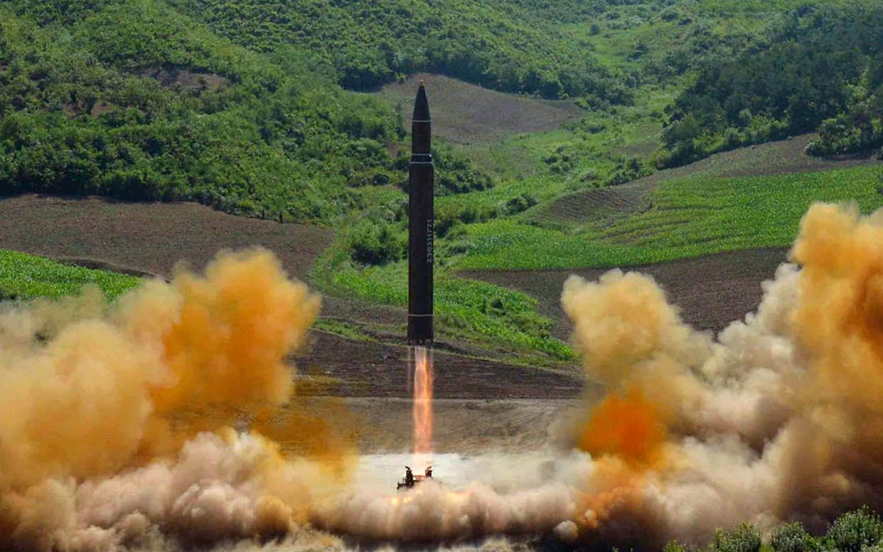 The Hwaesong 14 launch was test launched in July 2014. - KCNA via KNS