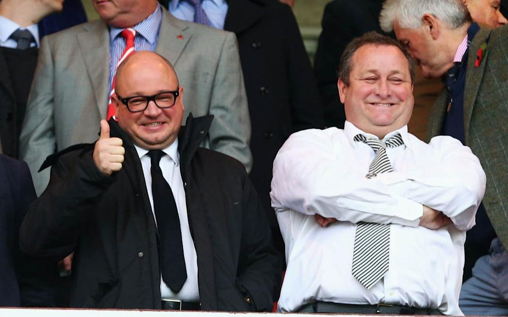 Lee Charnley and Mike Ashley - Credit: Getty images