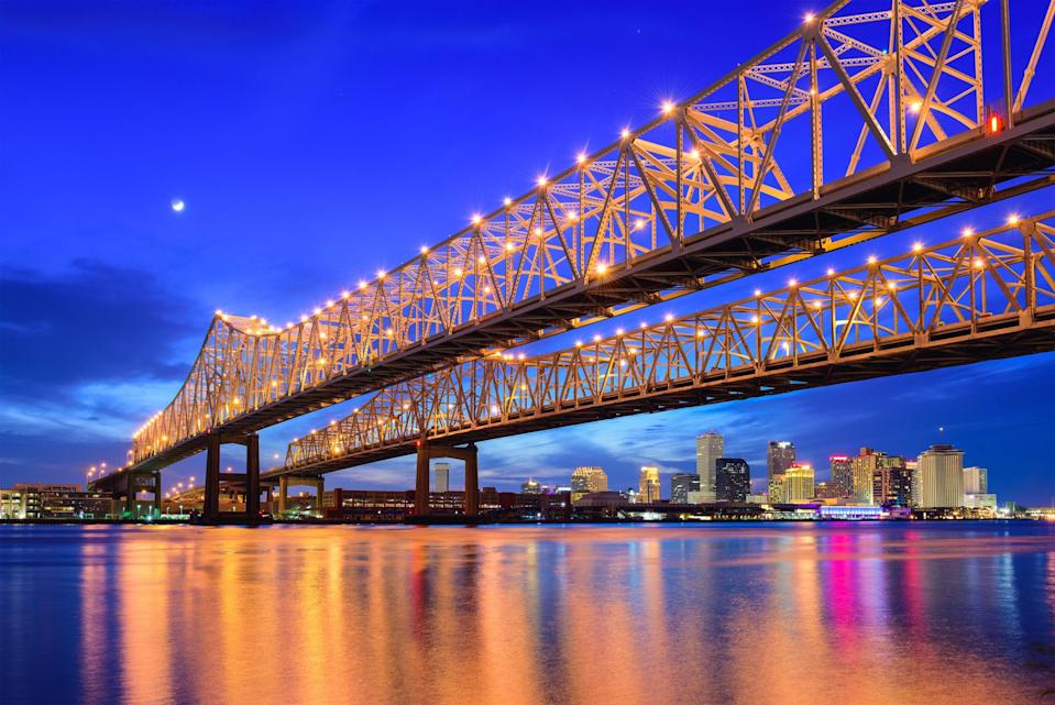 The Mississippi in New Orleans - Credit: AP
