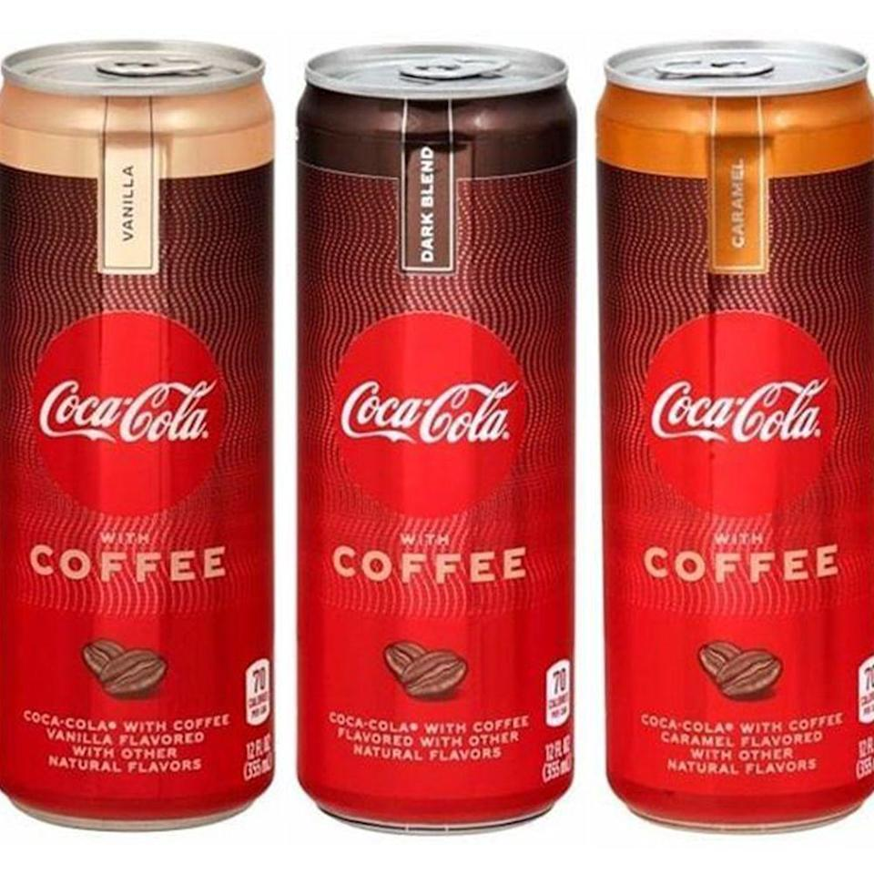"""<p><strong>Release date:</strong> April 2020</p><p>You've never had an afternoon pick-me-up like this before! <a href=""""https://www.bestproducts.com/lifestyle/a30472715/coca-cola-with-coffee-drinks/"""" rel=""""nofollow noopener"""" target=""""_blank"""" data-ylk=""""slk:Coca-Cola with Coffee"""" class=""""link rapid-noclick-resp"""">Coca-Cola with Coffee</a> will come in three flavors: Dark Blend, Vanilla, and Caramel. We don't know how, but somehow you need to prepare your body for this caffeine kick.</p>"""