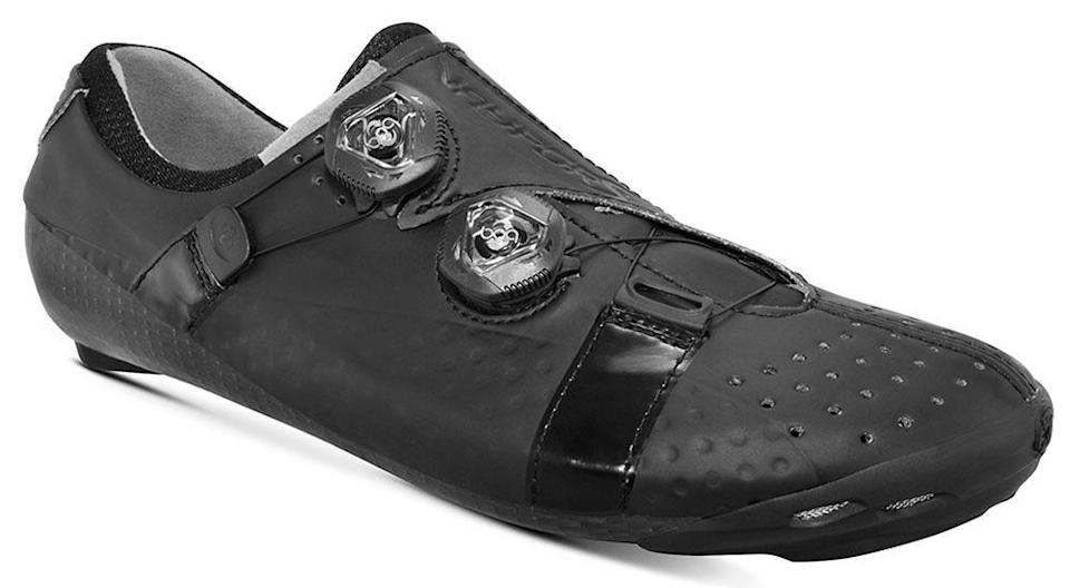 """<p><strong>Bont</strong></p><p>bontcycling.com</p><p><strong>$379.00</strong></p><p><a href=""""https://shop.bontcycling.com/products/vaypor-s-black"""" rel=""""nofollow noopener"""" target=""""_blank"""" data-ylk=""""slk:Shop Now"""" class=""""link rapid-noclick-resp"""">Shop Now</a></p><p>You can choose your width in these shoes up to a """"double wide fit'. If that's not enough personalization, riders can pop these shoes in the oven for 20 minutes, then after they've cooled down, you """"mold"""" them around their feet for a glove-like custom fit. </p><p><strong>Reviewer rave: </strong>""""After one trip in the oven, the Vaypor S had moulded around my foot and didn't need to go under the knife. That said, after a bit over a month, I'm going to put them back in to bring up the arches a touch. This is the beauty of the DIY system: you can customise them to perfection."""" —Colin Levitch, <a href=""""https://www.cyclingnews.com/reviews/bont-vaypor-s-review/"""" rel=""""nofollow noopener"""" target=""""_blank"""" data-ylk=""""slk:cyclingnews.com"""" class=""""link rapid-noclick-resp"""">cyclingnews.com</a></p>"""