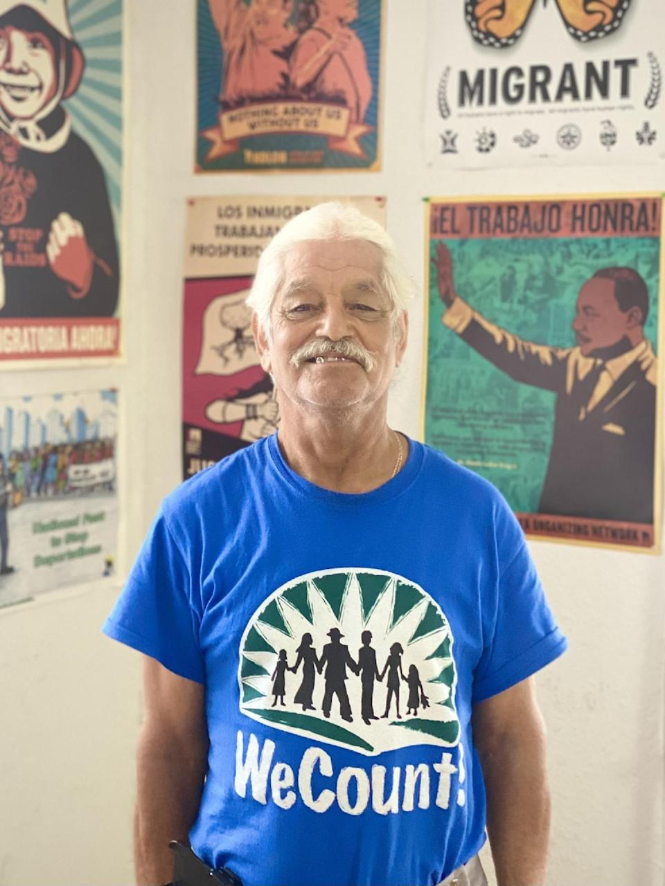 Jose Delgado, 72, is a Homestead, Florida farmworker whose health has suffered from heat. He's an advocate with WeCount, a group for immigrant rights.