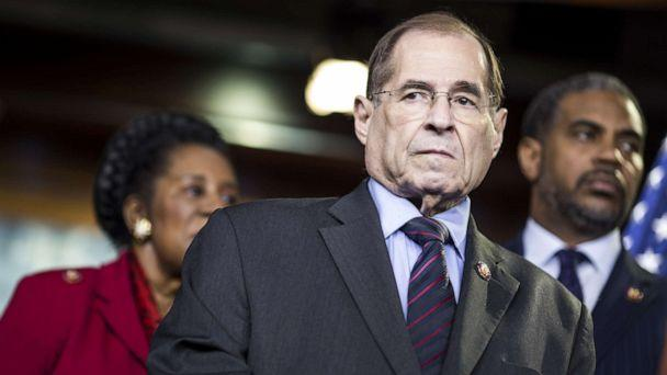 PHOTO: House Judiciary Committee Chairman Rep. Jerry Nadler (D-NY) attends a news conference, April 9, 2019, in Washington, D.C. (Zach Gibson/Getty Images)