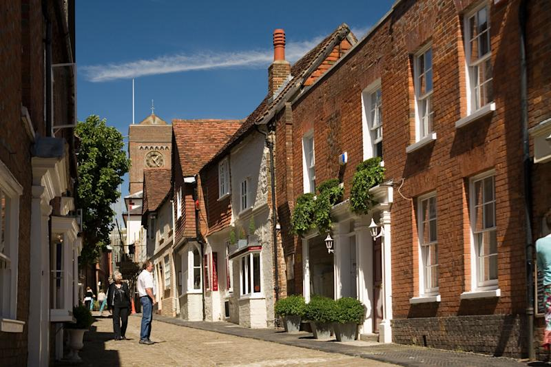 Quintessential market town: Petworth in West Sussex: Alamy
