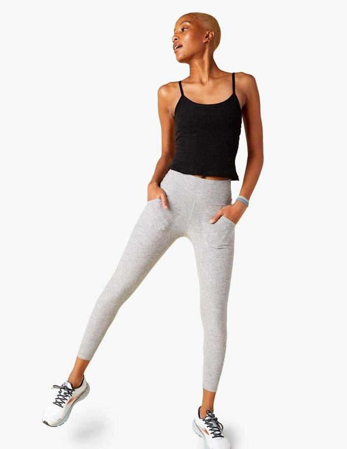 <p>We need leggings with pockets, which is why we love these <span>Beyond Yoga Patch Pocket High Waisted Midi Leggings</span> ($99).</p>