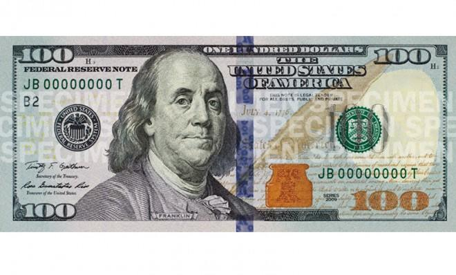The new $100 bill is outfitted with a 3D security ribbon.