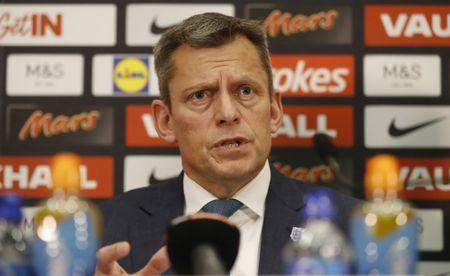 FA Chief Executive Martin Glenn during the press conference