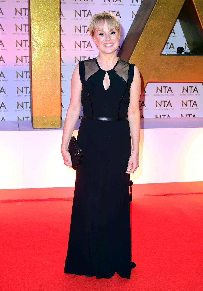 Sally Dynevor during the National Television Awards at London's O2 Arena. (Photo by Ian West/PA Images via Getty Images)