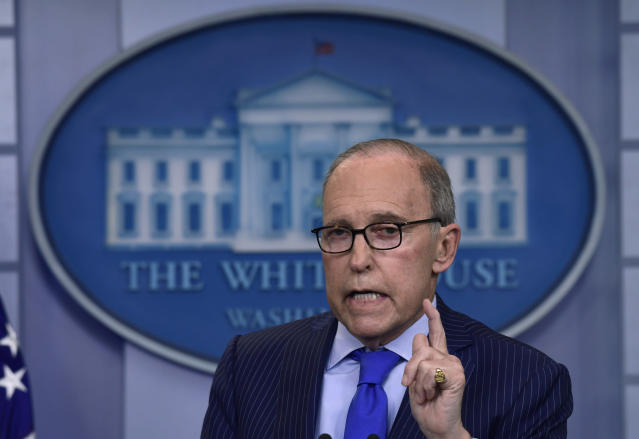 White House economic adviser Larry Kudlow speaks during a briefing at the White House in Washington, June 6, 2018, on the upcoming G-7 summit. (Photo: AP/Susan Walsh)
