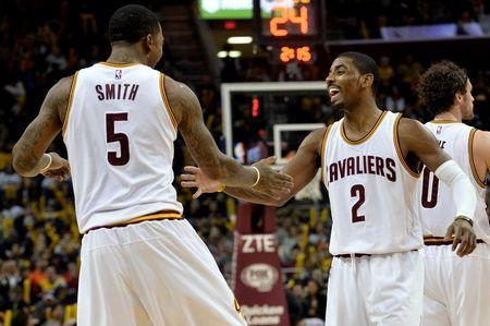 When J.R. Smith and Kyrie Irving get hot, the Cavaliers are downright scary. (Ken Blaze-USA TODAY Sports)