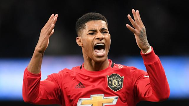 EFL Cup holders Manchester City have been drawn against rivals Manchester United in the semi-finals, to the joy of Marcus Rashford.