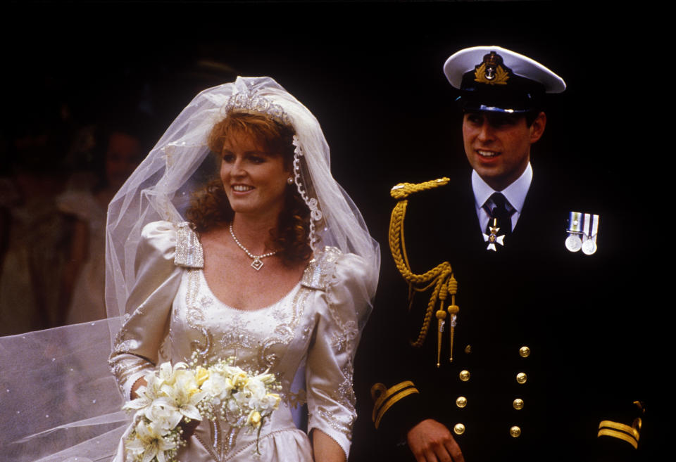 Prince Andrew and Sarah Ferguson got married at Westminster Abbey, in July 1986. (Getty Images)