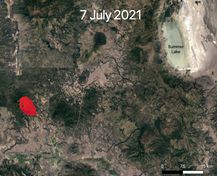 NASA's spatial imaging from the ISS is helping firefighters battle the Bootleg Fire (NASA)
