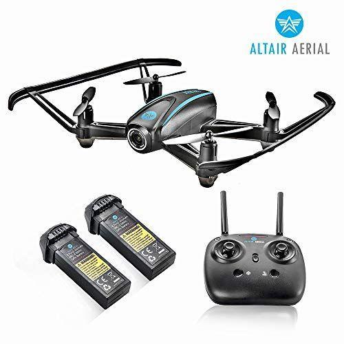"""<p><strong>Altair Aerial</strong></p><p>amazon.com</p><p><strong>$119.80</strong></p><p><a href=""""https://www.amazon.com/dp/B0751GHH8N?tag=syn-yahoo-20&ascsubtag=%5Bartid%7C10055.g.29419638%5Bsrc%7Cyahoo-us"""" rel=""""nofollow noopener"""" target=""""_blank"""" data-ylk=""""slk:Shop Now"""" class=""""link rapid-noclick-resp"""">Shop Now</a></p><p>Chances are that your kids are fascinated with drones, so you might as well give them an age-appropriate one to play with. It's super easy for beginners to use, but there are three different levels so they can continue to fly it as they advance their skills. There's even an option to <strong>map out the drone's route on a phone</strong>. It can fly for 10 minutes straight before the battery needs to be charged, and it also includes a backup battery. <em>Ages 9+</em></p>"""