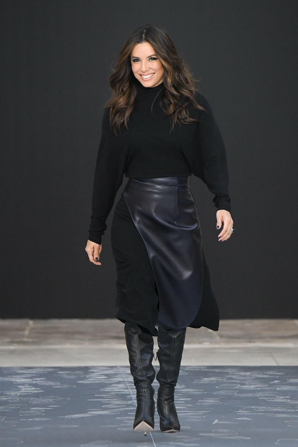 "<p>Eva Longoria brings passion and high energy to everything she does—from her activism to acting—so it should come as no surprise that her gym persona is not so different. But if there was ever any doubt, the former Desperate Housewives star offers plenty of proof by means of regularly posting videos of her workouts on her social media—both Eva and her trainer, <a href=""https://www.instagram.com/grantrobertsfit/?hl=en"" rel=""nofollow noopener"" target=""_blank"" data-ylk=""slk:Grant Roberts"" class=""link rapid-noclick-resp"">Grant Roberts</a>, post her workout sessions on <a href=""https://www.instagram.com/evalongoria/?hl=en"" rel=""nofollow noopener"" target=""_blank"" data-ylk=""slk:Instagram"" class=""link rapid-noclick-resp"">Instagram</a>.</p><p>After giving birth to her son, Santiago, in 2018, Eva took some time to ease back into her fitness routine in order to give her body enough time to properly heal. 'It created a human life, so I really wasn't too hard (on myself) about getting back into shape,' Eva told <a href=""https://www.usmagazine.com/celebrity-body/news/eva-longorias-post-baby-body-routine-rest-yoga-weight-training/"" rel=""nofollow noopener"" target=""_blank"" data-ylk=""slk:US Weekly"" class=""link rapid-noclick-resp"">US Weekly</a>. But about a year and a half ago, she started to amp up her workouts by incorporating serious strength training sessions (which, if you <a href=""https://www.instagram.com/p/CI6IXMOHjna/"" rel=""nofollow noopener"" target=""_blank"" data-ylk=""slk:peeped on Instagram"" class=""link rapid-noclick-resp"">peeped on Instagram</a>, are pretty intense!). </p><p>In addition to doing weighted exercises, Eva also likes to add variety to her workouts. 'I do a lot. I'm a runner, I do <a href=""https://www.womenshealthmag.com/uk/fitness/yoga/"" rel=""nofollow noopener"" target=""_blank"" data-ylk=""slk:Yoga"" class=""link rapid-noclick-resp"">Yoga</a>, I do <a href=""https://www.womenshealthmag.com/uk/fitness/a35010425/pilates-everyday/"" rel=""nofollow noopener"" target=""_blank"" data-ylk=""slk:pilates"" class=""link rapid-noclick-resp"">pilates</a>. I do SoulCycle, and I'm just constantly mixing it up,' she told <a href=""https://people.com/chica/eva-longoria-beauty-tips/"" rel=""nofollow noopener"" target=""_blank"" data-ylk=""slk:People"" class=""link rapid-noclick-resp"">People</a> in 2017. </p><p> So how does she do it all? 'Everybody thinks there's some kind of secret to looking good, but it's not a secret. It's diet and exercise,' Eva told <a href=""https://people.com/chica/eva-longoria-beauty-tips/"" rel=""nofollow noopener"" target=""_blank"" data-ylk=""slk:People."" class=""link rapid-noclick-resp"">People.</a> Other than that: 'It's honestly just being committed to a goal,' she told US Weekly. </p><h2 class=""body-h2"">Here's 8 ways Eva stays so freaking fit at 46</h2>"
