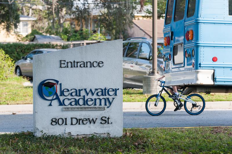 Clearwater Academy bills itself as secular, despite using educational methods developed by L. Ron Hubbard, the founder of the Church of Scientology.