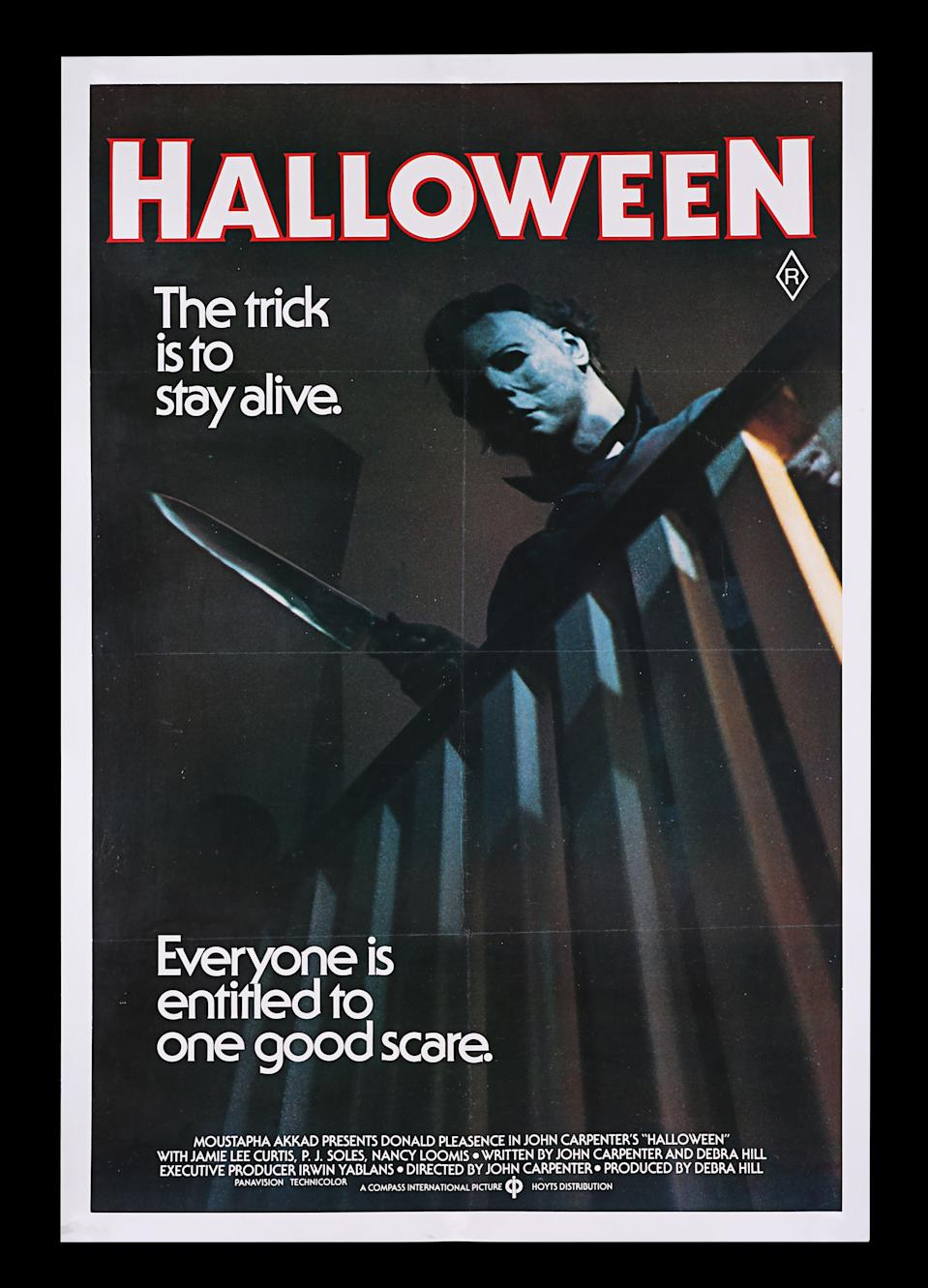 <p>HALLOWEEN (1978) - Bryan Fuller Collection: Australian One-Sheet, 1979 est. £800 - £1,200 (Prop Store)</p>