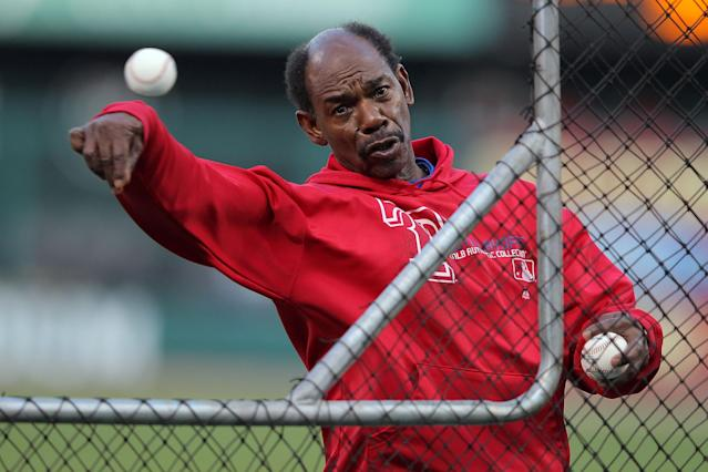 ST LOUIS, MO - OCTOBER 28: Manager Ron Washington of the Texas Rangers throws batting practice prior to Game Seven of the MLB World Series against the St. Louis Cardinals at Busch Stadium on October 28, 2011 in St Louis, Missouri. (Photo by Doug Pensinger/Getty Images)