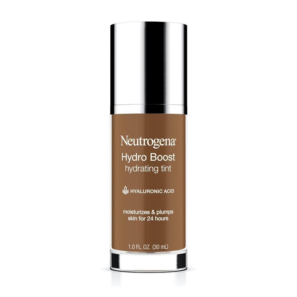 """<p>Neutrogena's Best of Beauty-winning Hydro Boost Skin Tint makes application effortless with a wide doe-foot applicator. If it weren't for its sheer pigment, we'd have to qualify it as a moisturizer, thanks to its hydrating <a href=""""https://www.allure.com/story/what-is-hyaluronic-acid-skin-care?mbid=synd_yahoo_rss"""" rel=""""nofollow noopener"""" target=""""_blank"""" data-ylk=""""slk:hyaluronic acid"""" class=""""link rapid-noclick-resp"""">hyaluronic acid</a>.</p> <p><strong>$13</strong> (<a href=""""https://www.amazon.com/Neutrogena-Hydro-Boost-Hydrating-Tint/dp/B01HOI5JO2"""" rel=""""nofollow noopener"""" target=""""_blank"""" data-ylk=""""slk:Shop Now"""" class=""""link rapid-noclick-resp"""">Shop Now</a>)</p>"""