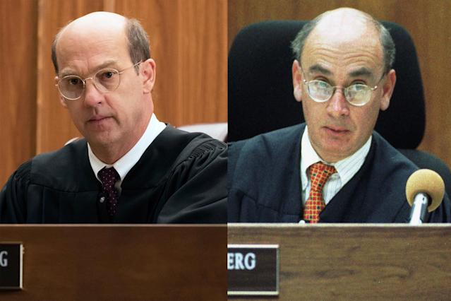 <p>As the judge who presided over the trial, the no-nonsense Weisberg often clashed with Abramson. Edwards is always a calm and steady presence, and can deliver a withering glare through his glasses like nobody else.<br><br>(Photos: Justin Lubin/NBC, Steve Grayson/AP) </p>