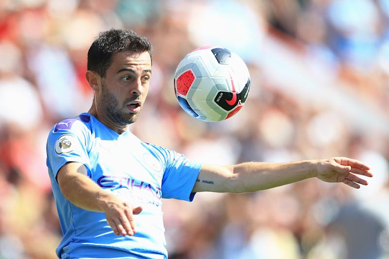 Bernardo Silva of Manchester City controls the ball (Credit: Getty Images)