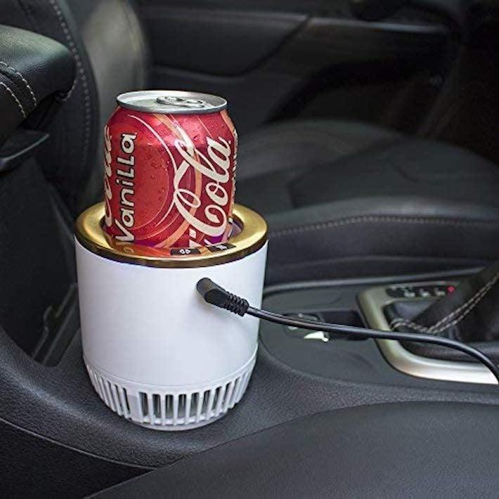 <p>This <span>Premium 2-in-1 Car Cup Warmer Cooler Smart Car Cup Holder</span> ($40) is a genius invention.</p>