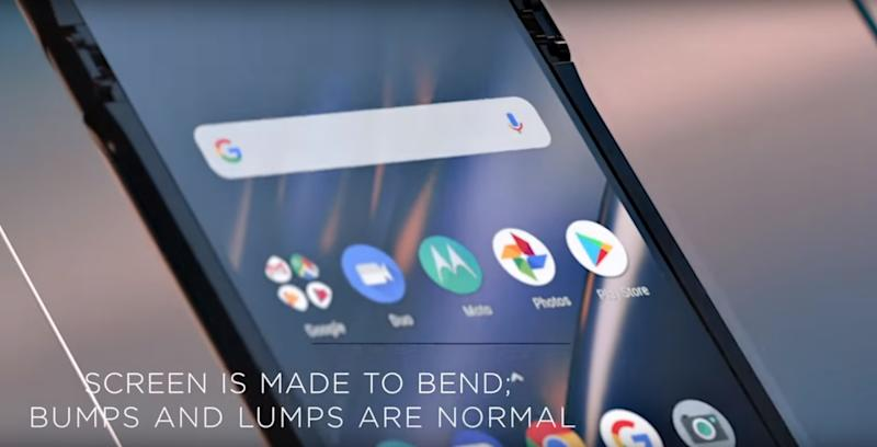 'Bumps and lumps' are normal, says Motorola of its folding phone