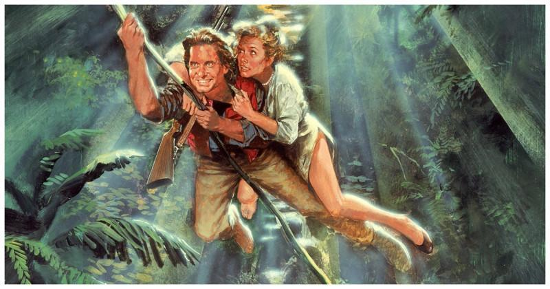 Douglas starred in the 1984 action caper Romancing the Stone with Kathleen Turner