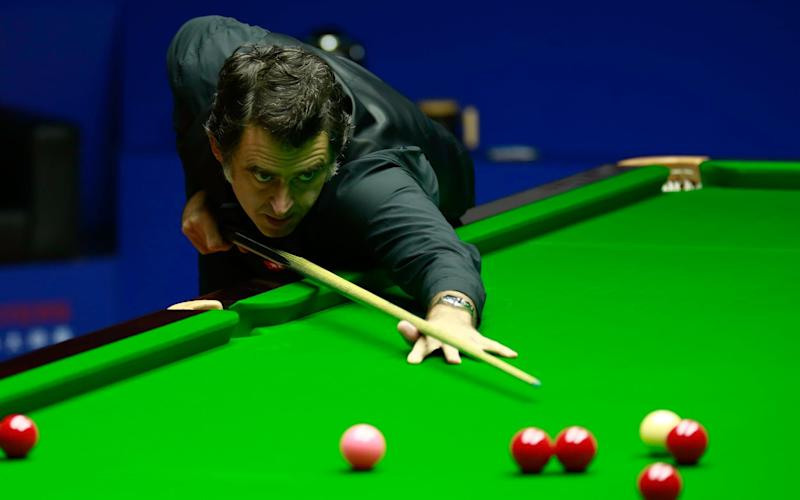 Ronnie O'Sullivan of England plays a shot in the final match against Shaun Murphy of England on day 7 of World Snooker Shanghai Masters 2019 at Regal International East Asia Hotel on September 15, 2019 in Shanghai, China. - GETTY IMAGES