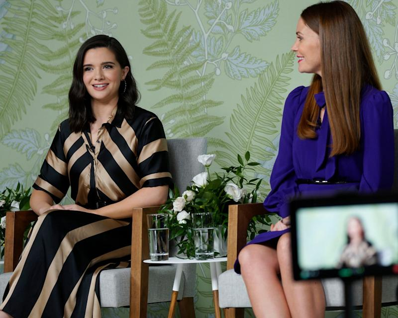 THE BOLD TYPE, from left: Katie Stevens, Brittany Drisdelle, To Peg or Not to Peg, (Season 4, ep. 406, aired Feb. 27, 2020). photo: Jonathan Wenk / Freeform / Courtesy Everett Collection