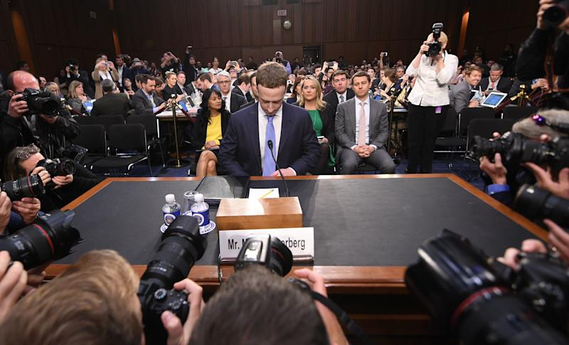 Facebook CEO Mark Zuckerberg testified about Facebook's practices before the U.S. Senate in April. (JIM WATSON via Getty Images)