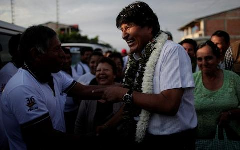 The once wildly-popular Leftist and former coca farmer, elected Bolivia's first indigenous president in 2005, has seen his support wane amid corruption allegations - Credit: Ueslei Marcelino/Reuters
