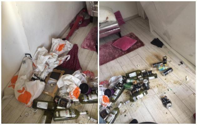 Airbnb Paris studio trashed