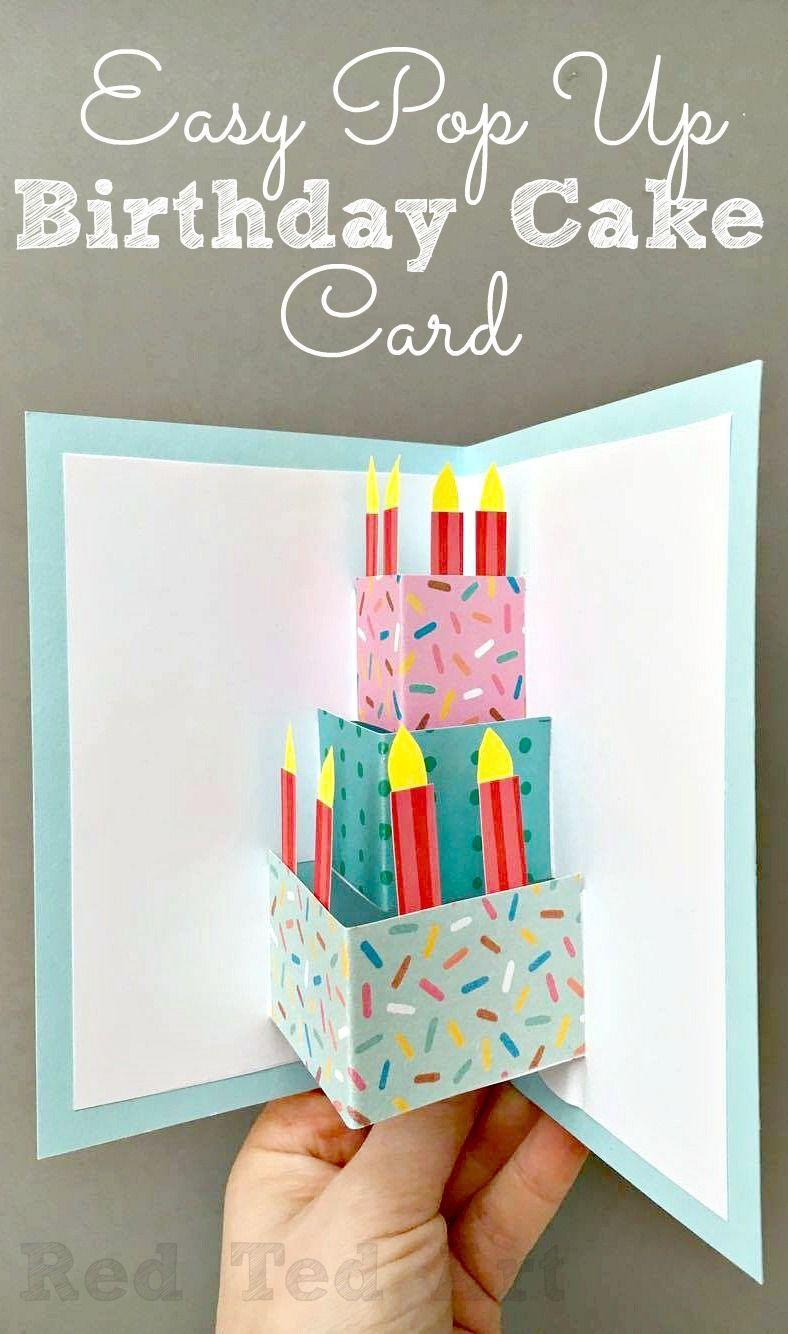 """<p>A 3-D cake with sprinkles that comes with no muss, no fuss, and no calories? Sign us all up.</p><p><strong>Get the tutorial at <a href=""""https://www.redtedart.com/pop-birthday-card-diy/"""" rel=""""nofollow noopener"""" target=""""_blank"""" data-ylk=""""slk:Red Ted Art"""" class=""""link rapid-noclick-resp"""">Red Ted Art</a>.</strong><br></p>"""