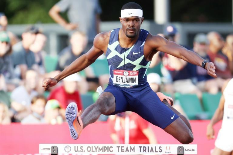 Rai Benjamin says just missing out on the world record will motivate him at next month's Olympics