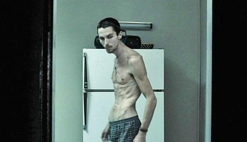 "<p>But Bale's most notable transformation was for <em>The Machinist</em> in 2005. <a href=""https://www.imdb.com/title/tt0361862/trivia"" rel=""nofollow noopener"" target=""_blank"" data-ylk=""slk:He reportedly"" class=""link rapid-noclick-resp"">He reportedly</a> went from 173 pounds to 110 pounds by living off of one can of tuna and an apple a day, plus coffee and water. For what it's worth, we do not recommend following this eating plan.</p>"