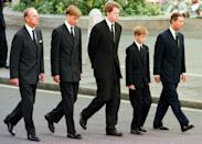 The picture of William and Harry walking behind their mother's coffin was the most poignant image of Princess Diana's funeral