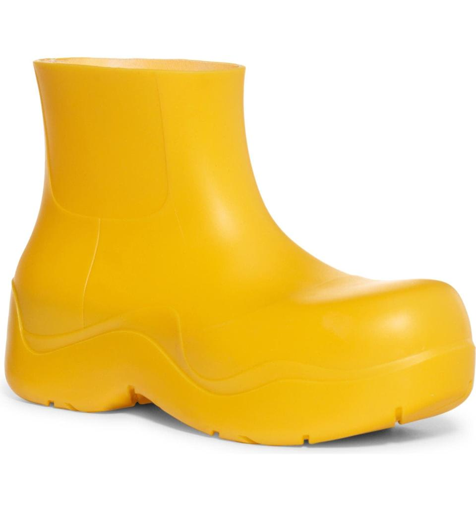 <p>We've been seeing these <span>Bottega Veneta Puddle Waterproof Chelsea Rain Boots</span> ($650) everywhere. They come in so many colors, but we love the classic yellow.</p>