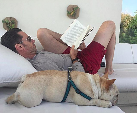 "<p>""Summertime and the livin' is easy … (for a few more days anyway),"" <em>Wolverine</em> wrote, as he indulged in some R&R with a book and his pup. (Photo: <a href=""https://www.instagram.com/p/BYazmHmjvL4/?taken-by=thehughjackman"" rel=""nofollow noopener"" target=""_blank"" data-ylk=""slk:Hugh Jackman via Instagram"" class=""link rapid-noclick-resp"">Hugh Jackman via Instagram</a>) </p>"