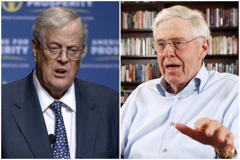 Charles Koch seeks to declare independence from Republican Party