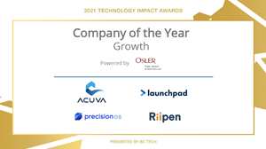 """Launchpad Technologies has been named a short finalist in BC Tech's 2021 Technology Impact Awards in the category of """"Company of the Year – Growth"""""""
