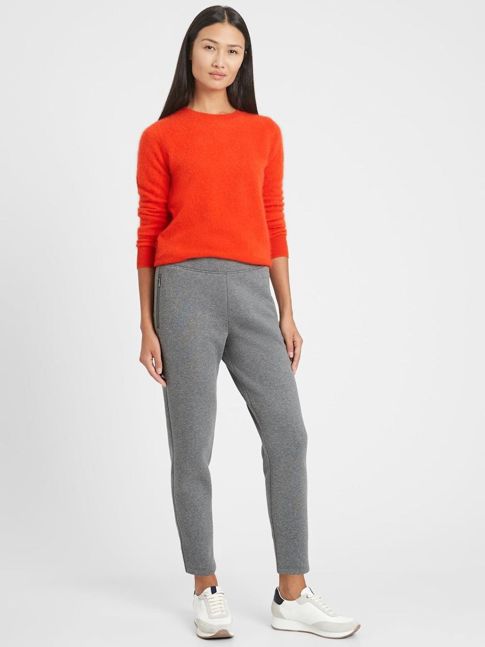 <p>We have tried and love this <span>Cozy Fleece Commuter Jogger</span> ($55, originally $70).</p>