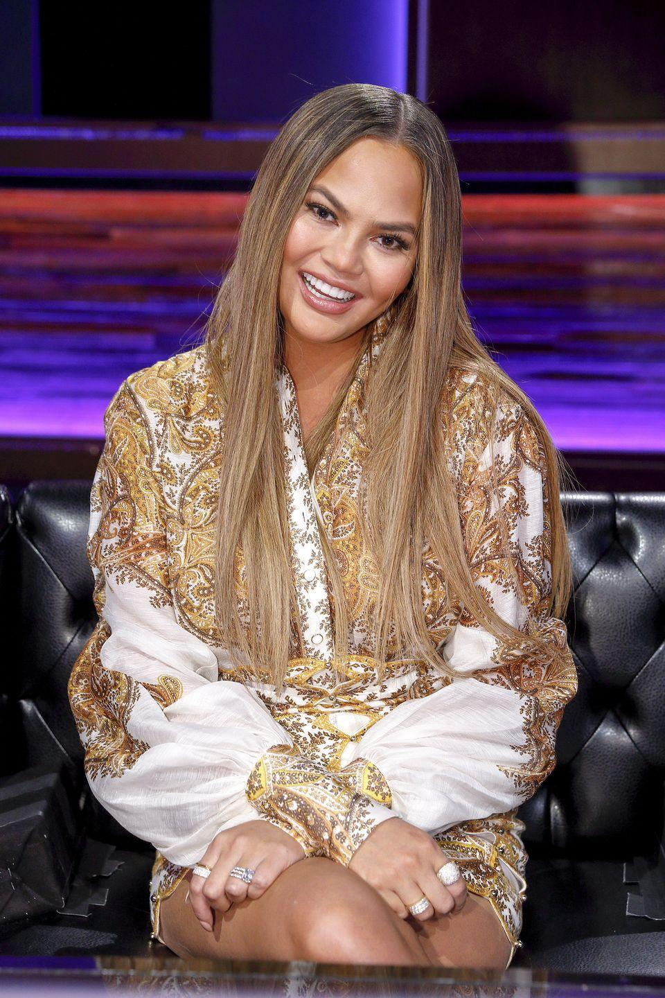 <p>This piece-y and flattering early aughts method of highlighting is back in a big way. To keep things looking sunkissed and natural, always go for highlights two shades lighter than your natural hair color, like <strong>Chrissy Teigen</strong>. </p>