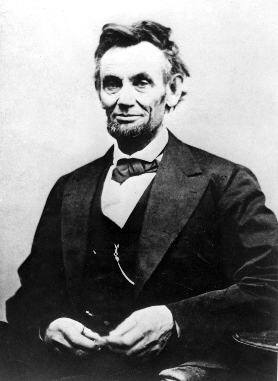 Portrait of Abraham Lincoln (1809-1865) by the photographer Alexander Gardner, 1865, United States, Washington. Library of Congress, . (Photo by: Photo12/Universal Images Group via Getty Images)