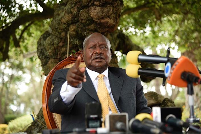 Yoweri Museveni was re-elected as president of Uganda in February 2016 (AFP Photo/Isaac Kasamani)